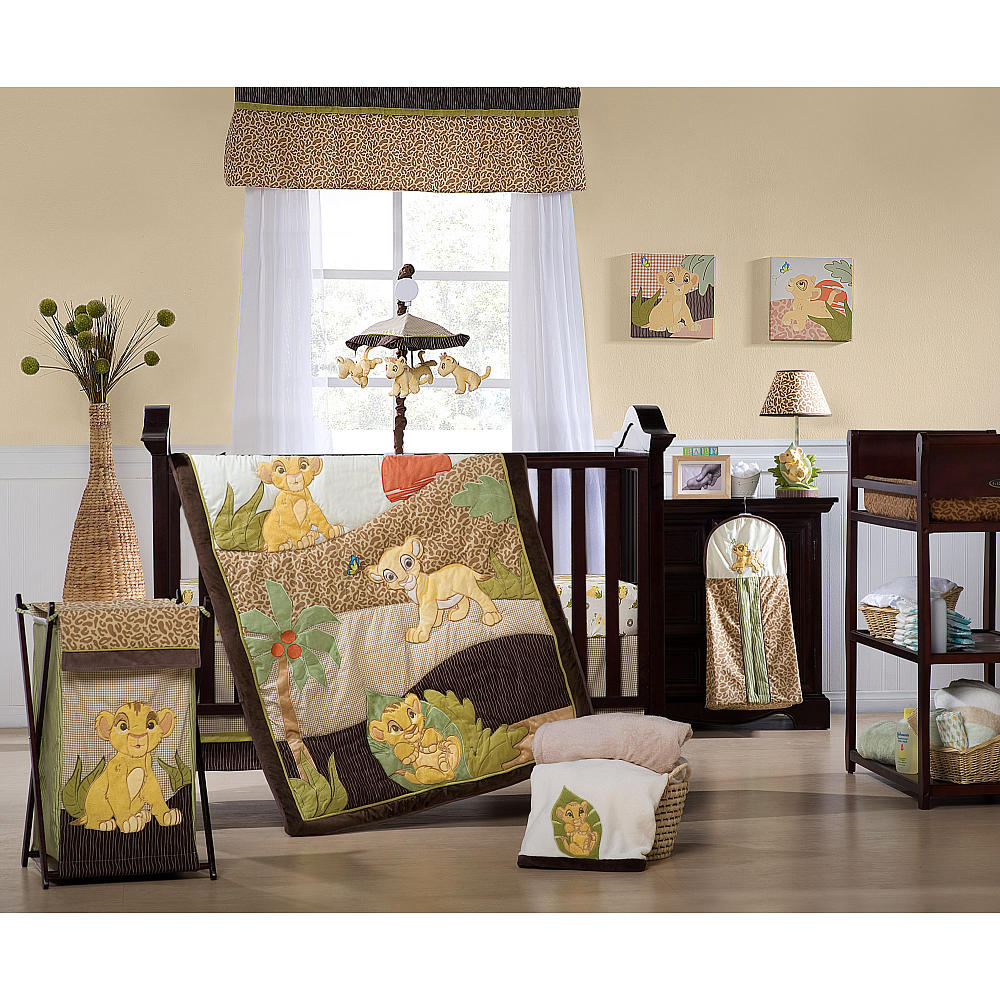 baby boy bedding kids line lion king 7 piece crib bedding set