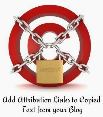 Add Attribution Links to Copied Text from your Blog