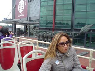 sexy Italian woman on Macau bus