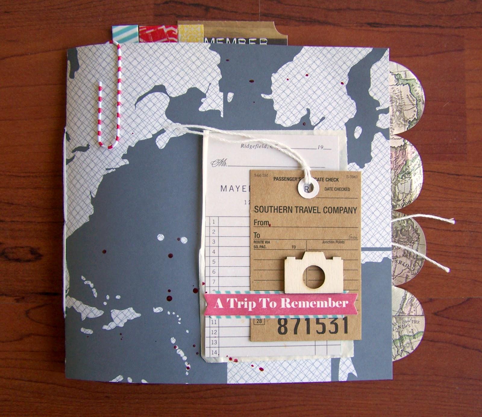 precocious paper travel mini album. Black Bedroom Furniture Sets. Home Design Ideas