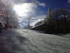 Febbraio 2012, 2.10 mt DI CANDIDA NEVE-- SCIARE AL MONTE AMIATA