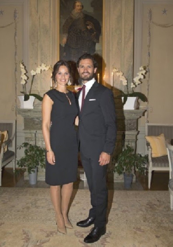 Prince Carl Philip And Princess Sofia At Dinner On Their Visit To Varmland