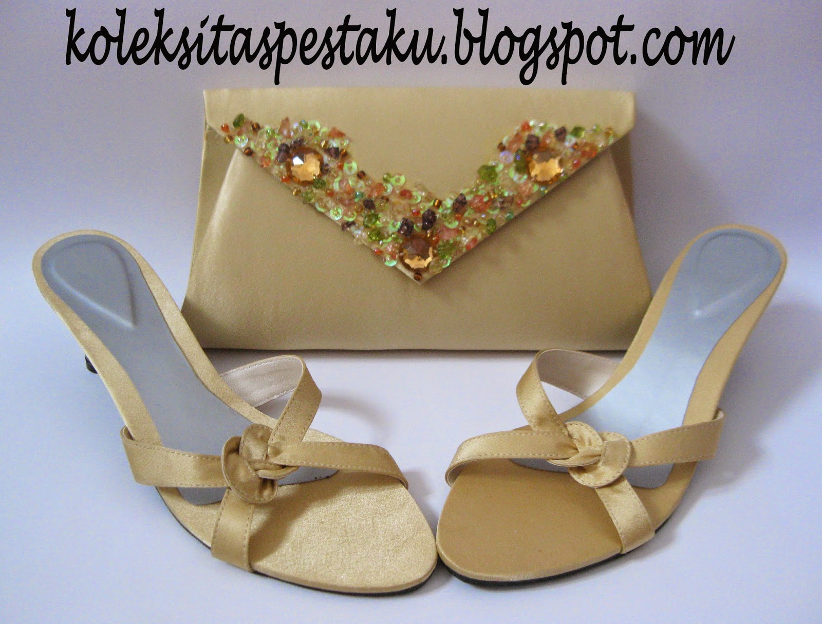 Slop Pesta Clutch Bag AMplop Gold Mewah