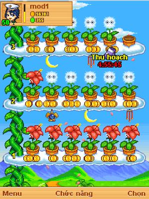 Điểm đặc biệt của ứng dụng game là người chơi có thể buôn bán nông sản, thu hoạch trên khu vườn thần tiên của mình.
