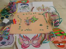 Algumas das máscaras escolhidas e decoradas por nós
