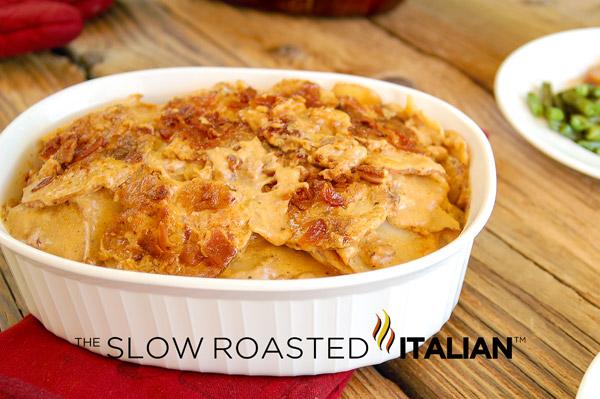 ... Italian - Printable Recipes: Bacon Cheddar Beer Potatoes Au Gratin