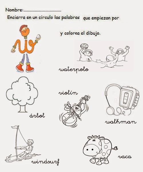 Palabras con w para niños de Kinder | Para niños