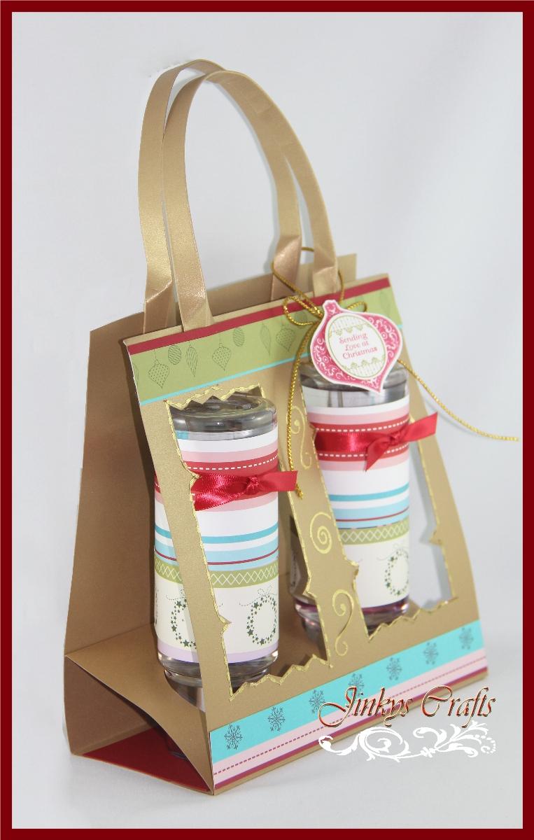 Window christmas tote bag jinkys crafts