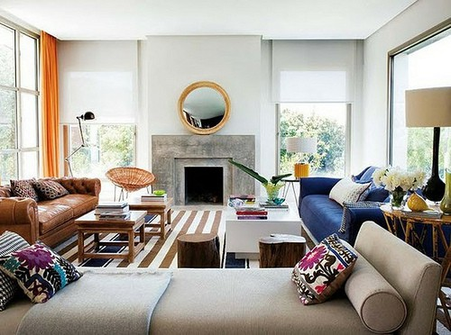 Eclectic Living Room Furniture and Decor