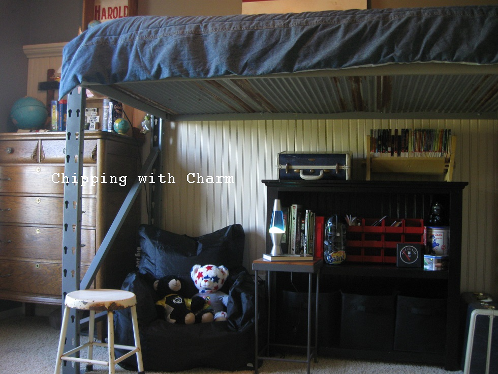 Man Cave With Bed : Chipping with charm little man cave pallet racks to