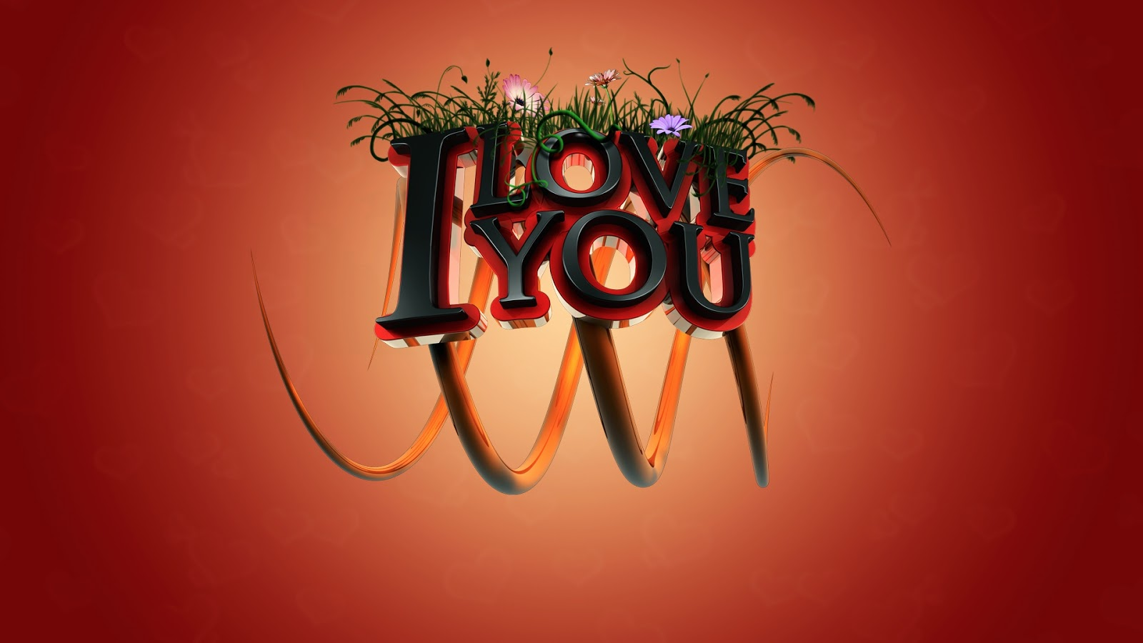 I Love you 3D 1920X1080 Wallpaper