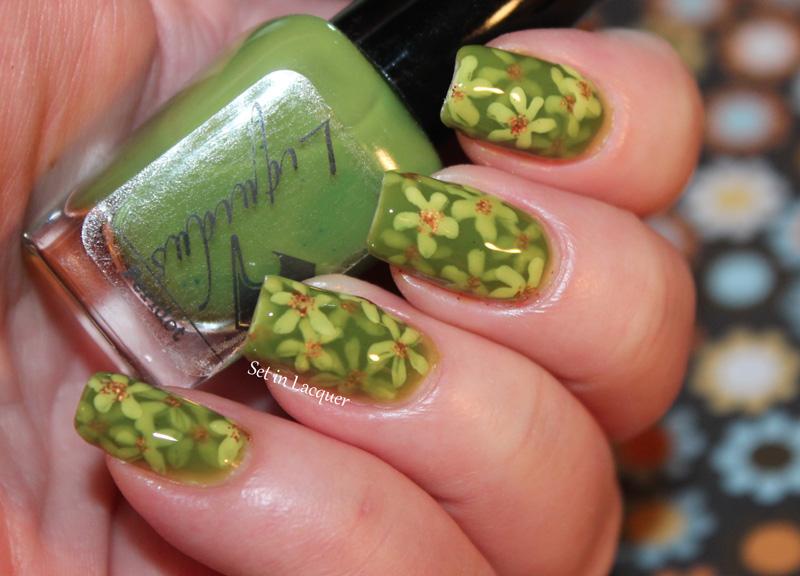 Floral, pond nail art
