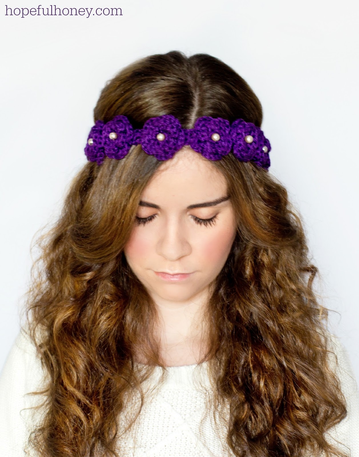 Hopeful Honey Craft, Crochet, Create: Daisy Flower Crown ...