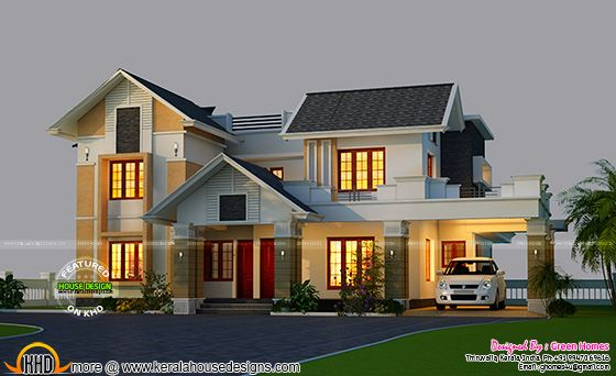 Kerala home design and floor plans beautiful new house plan for Latest beautiful houses