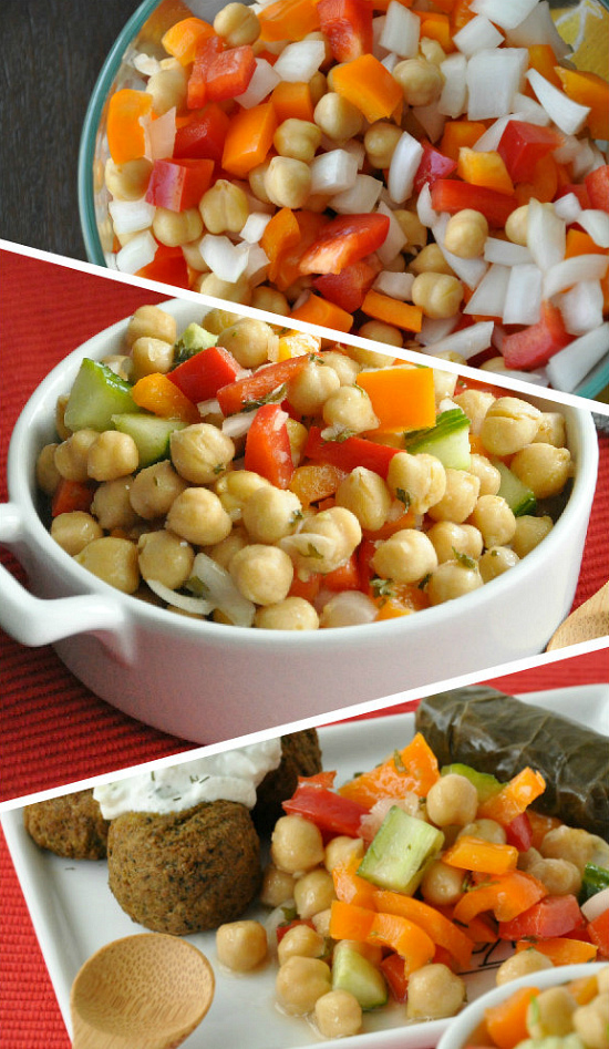 Greek Restaurant Recreation - Marinated Chickpea Salad