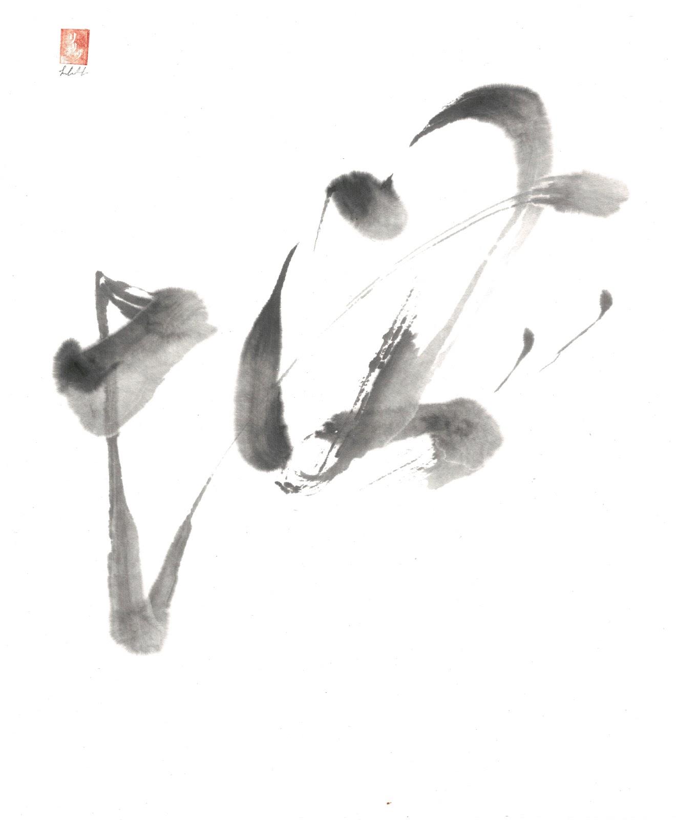Admiration of the Profound blog illustration of sumi-e symbols.