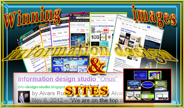 Info image showing the first placed websites of Information designers