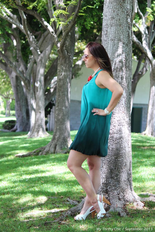 green ombre bubble dress