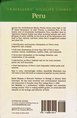 Peru Travellers' Wildlife Guides Book
