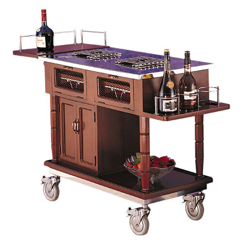 trolleys gueridon or flambe trolley bartenders blog