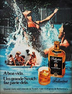 propaganda whisky Balantines - 1978.  os anos 70; propaganda na década de 70; Brazil in the 70s, história anos 70; Oswaldo Hernandez;