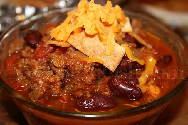 Crockpot Beef Chili with Beans