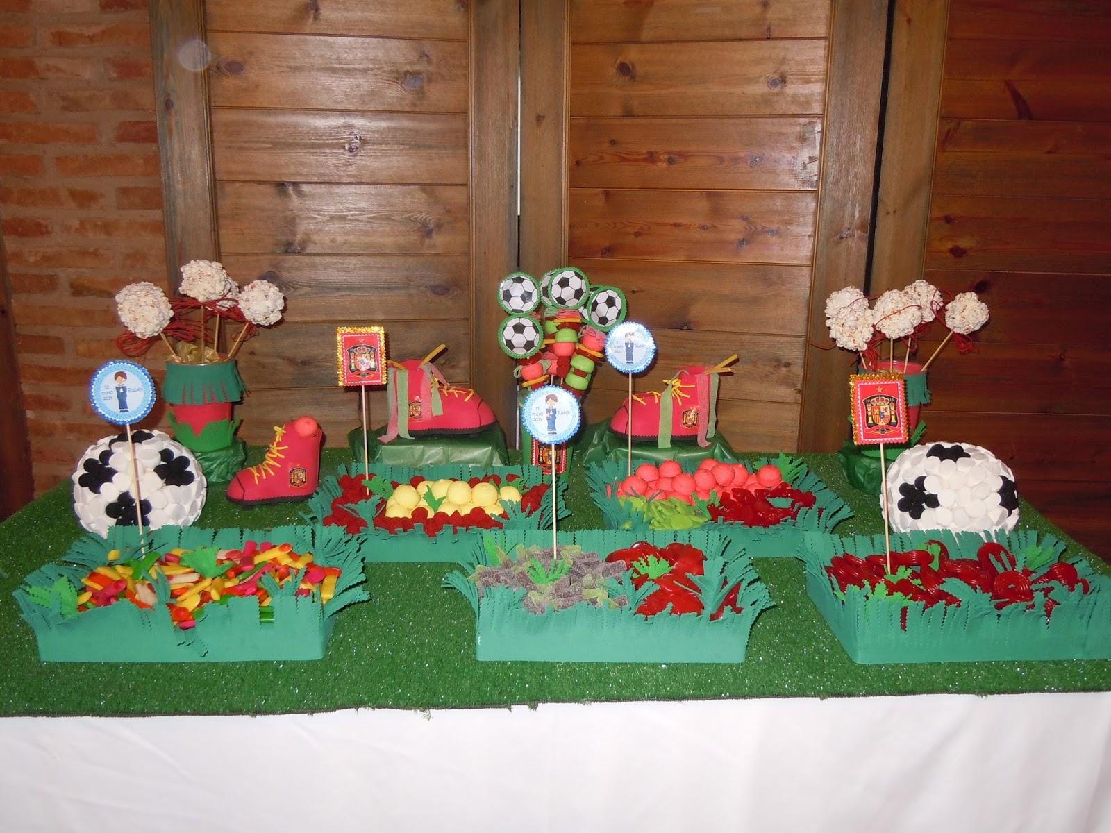 Dulce art rioja mesa dulce futbol for Ideas para mesas de chuches