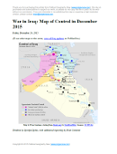 Detailed map of territorial control in Iraq as of December 23, 2015, including territory held by the so-called Islamic State (ISIS, ISIL), the Baghdad government, and the Kurdistan Peshmerga. Includes recent flashpoints including Ramadi, Baiji, Sinjar, and the Kirkuk-Daquq area.