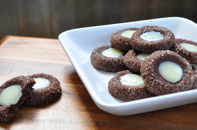 The Ginger Snap Girl: Chocolate Mint Thumbprints