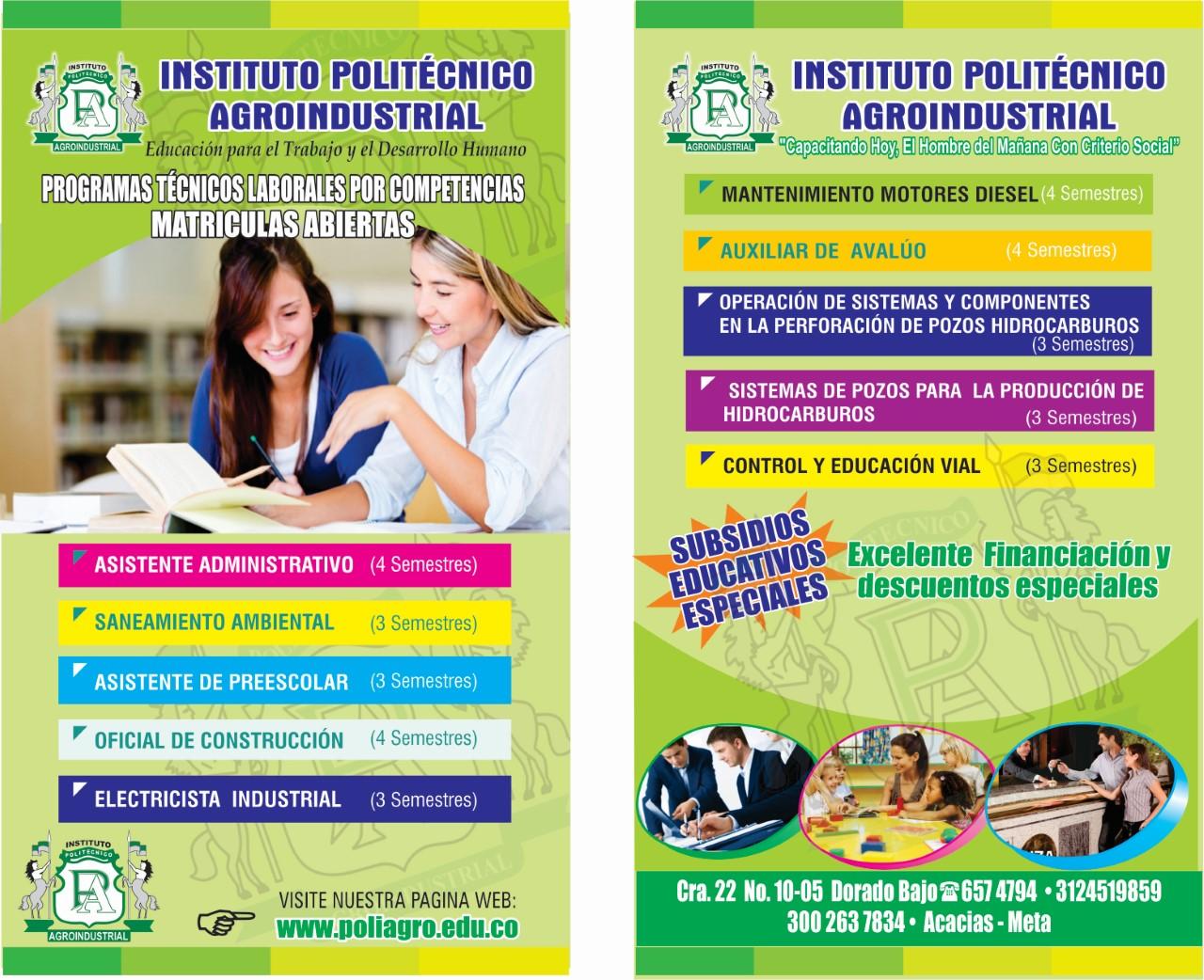 EN ACACIAS MAS OPCIONES DE EDUCACION