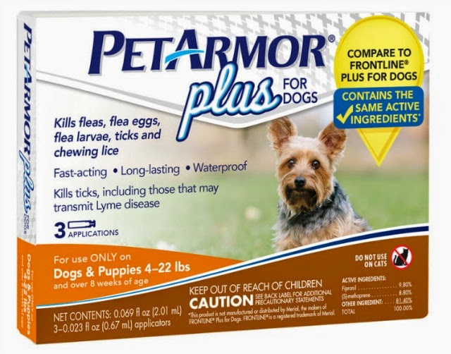 Pet Armor Plus flea and tick preventive are species-specific products