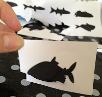 fish silhouette, cutting out, scissors