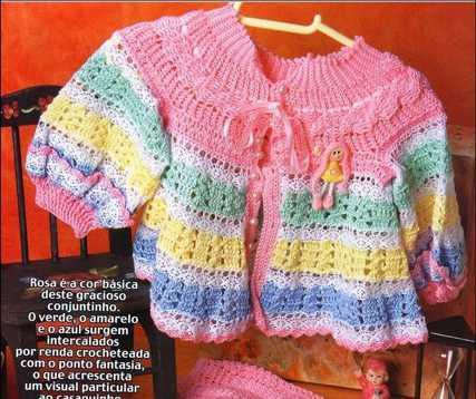 Conjunto de Bebé tejido a Crochet