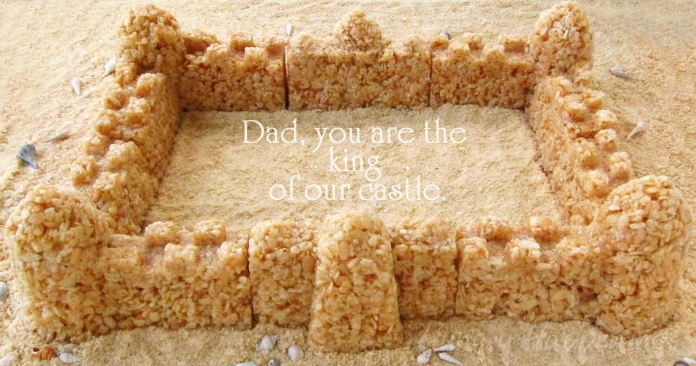 Caramel Rice Krispies Treat Sand Castle Made Using Sand