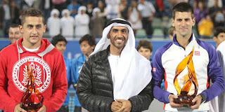 TENIS-Djokovic se corona en la exhibición de Abu Dhabi