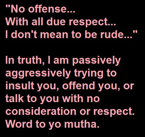what does with all due respect mean