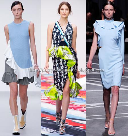 Къси роклички с волани пролет-лято 2013