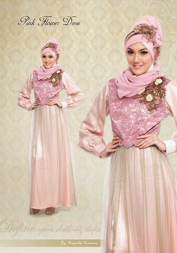 contoh baju pesta muslimah