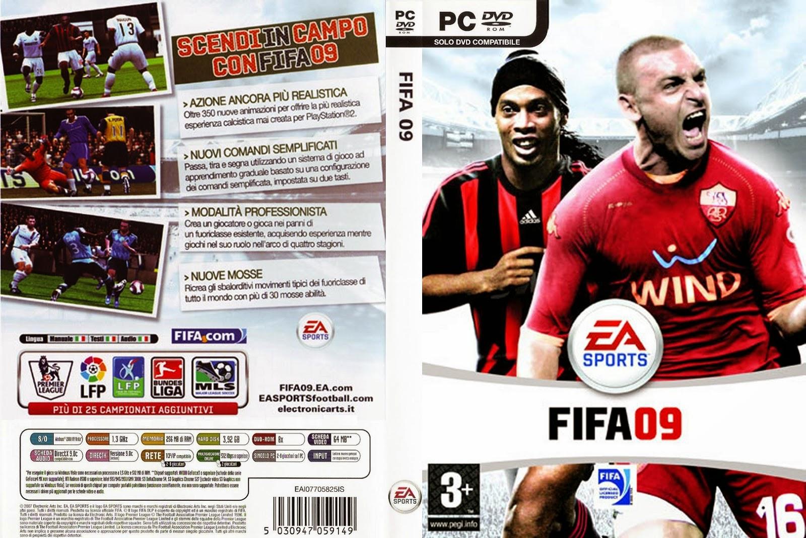 تحميل لعبة FIFA 09 برابط واحد وبدون تثبيت