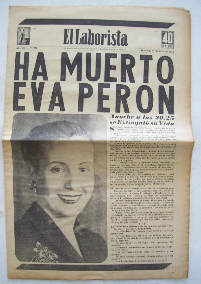 essay on eva peron Evita peron evita was similar to the a&e biography about eva peron in the way that they both were able to capture the common people of argentina hearts and minds they both were loved and adored by the people.