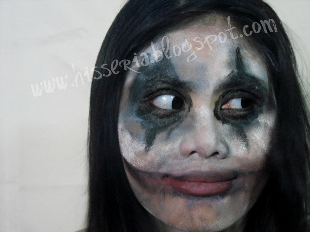hisseria.blogspot: halloween makeup:messy evil clown makeup