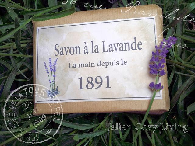 DIY Lavendel zeep etiket - Jalien Cozy Living