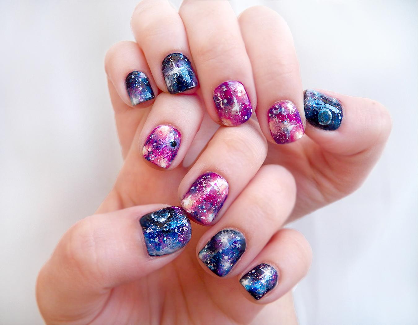 Galaxy Nail Art Tutorial YouTube - Nail Art Design Ideas Collection