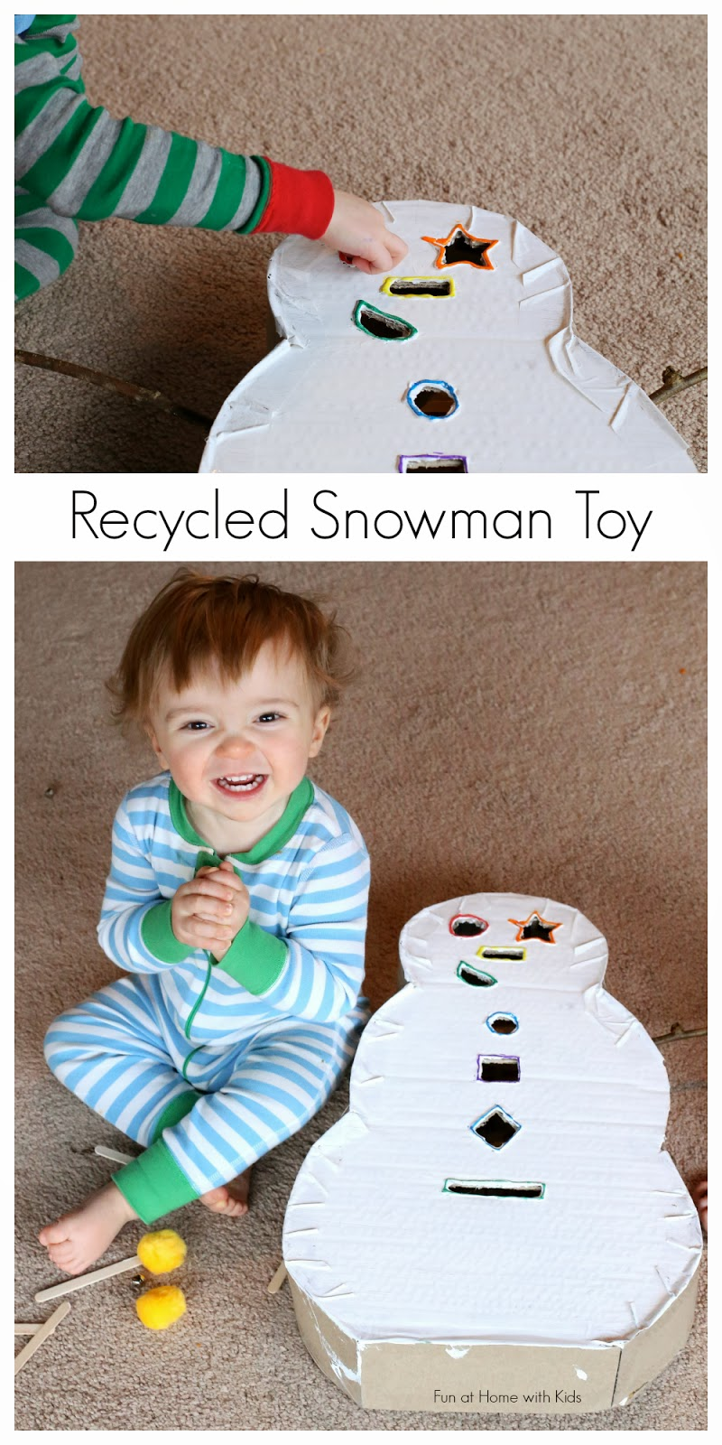 Toys For Winter : Diy toddler toy snowman drop box