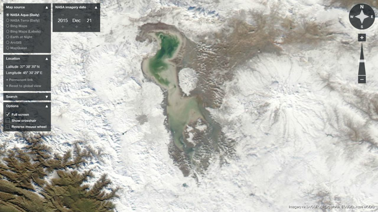A Research on Lake Urmia Orumieh New Satellite Views of LU