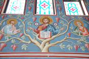 Συνεχίζεται το έργο της Αγιογραφήσεως εις τον νεόδμητον Ιερόν Ναόν του Αγίου Αντωνίου