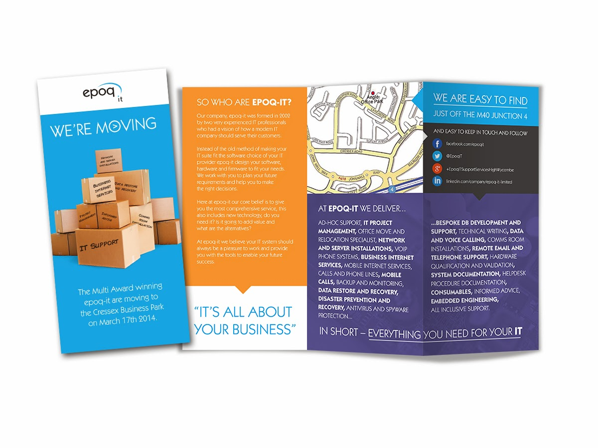 Epoq IT Office Moving Leaflet