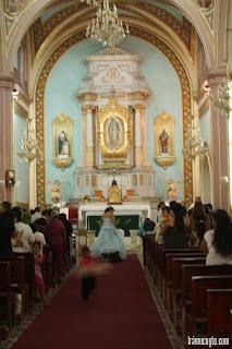 Interior de la iglesia Acambaro Guanajuato
