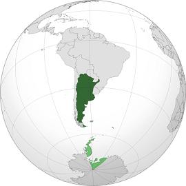 UBICACIÓN GEOGRÁFICA DE LA ARGENTINA