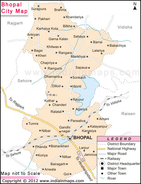 About Bhopal City India In Maps